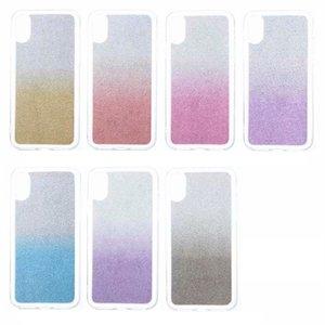 LuxuxBling Sparkle weicher TPU Fall für Iphone XR XS X 8 Galaxy Note 9 (J8 J7 DUO MAX J6 J4 A6) 2018 Rainbow Glitter Gradient funken Covers