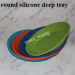 """Livraison gratuite plus le prix usine Deep Dish Round Pan 8 """"amical Non Stick Silicone dab bocaux Huile de concentrée BHO plateau en silicone"""