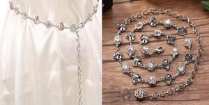 New Belt Luxury Desiger Belt Women Lady Meatal Diamond Belts Fashion Accessory Waist Belts Chain Belts Stretch Waistband Women Dress Belt