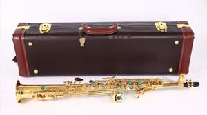 새로운 톱 소프라노 색소폰 B 플랫 전기 영동 골드 탑 악기 Sax Soprano professional grade 케이스 포함 무료 배송