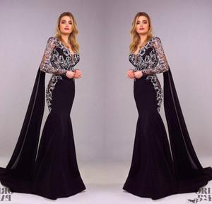 Tony Chaaya 2018 Prom Dresses a sirena a maniche lunghe Ricami a fiori Splendidi abiti da sera Sexy Plus Size Abito formale
