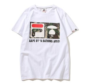 Europe and the United States 18 spring and summer monks joint name casual fashion fashion cotton short-sleeved men and women T-shirt