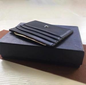Classique Noir Titulaire de la Carte de Crédit Portefeuille En Cuir Véritable Mince Banque ID Carte Cas Étoile MB Designer Coin Poche Sac Petites Pochettes