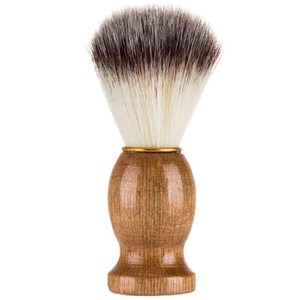 Shaving Brush Badger Hair Men Barber Salon Men Facial Beard Cleaning Appliance Shave Tool Razor Brush Wood Handle for Men