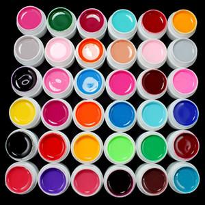 36PCS / مجموعة 8ML عالية الجودة ألوان نقية للأشعة فوق البنفسجية هلام أظافر لLED مصباح الأشعة فوق البنفسجية هلام لون الصلبة هلام مسمار الفن ورنيش