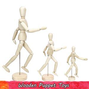 Manequim De Madeira móvel Figura de Ação Brinquedos para Crianças Artista Manequim Esboço Modelo de Pintura para Estudantes Presentes Criativos Casa Loja de Decoração