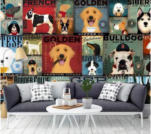 3d обои пользовательские фото росписи мультфильм смешная собака иллюстрации гостиная живопись 3D настенные росписи обои для стен 3 d