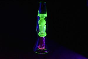 ot Verkauf Lava Lampe Design Glas Bongs 8 Zoll Dab Rig Percolator Bongs 14mm Weibliche Joint Wasserleitung