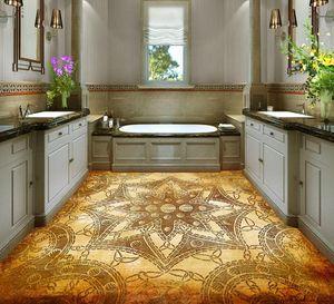 Floor wallpapers for living room European creative pattern 3D floor wall mural photo wallpaper