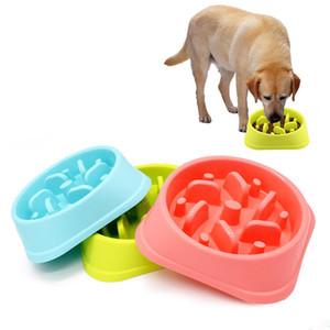 Pet Dog Feeder Bowl Anti Choke Bowl Chiot Chat Slow Feeder Interactive Bloat Stop Dog Bowl Grand Manger Des Aliments Régime Diète