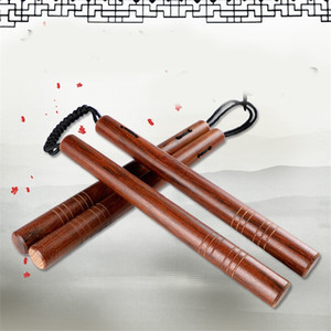 Eco Friendly Hard Natural Wooden Nunchakus With Rope Sturdy Smooth Surface Style Nunchaku For Adults Performance Show Tools New 26cb ZZ