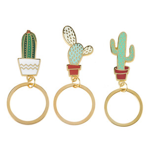 Cactus portachiavi Smalto pianta in vaso Cactus Succulente catena chiave Calendario Cactus Portachiavi Catene portachiavi Cactus Lover Regalo