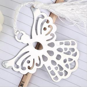 (10 unids / lote) ENVÍO GRATIS + Colección de los amantes del libro Angel Bookmark Wedding Favors First Communions Party Giveaway For Guest