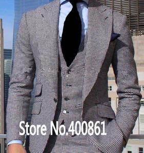 Classic Style One Button Groom Tuxedos Peak Lapel Groomsmen Best Man Blazer Mens Wedding Suits (Jacket+Pants+Vest+Tie) H:673