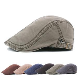 2018 homens de inverno Chapéus de Pressão Plana homens velhos boina chapéu denim jeans Newsboy caps Ivy Gatsby Caça Cabbie Condução Cap