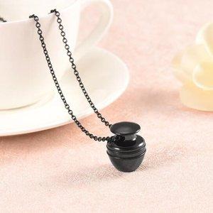 Accessoires de bijoux fantaisie gravure personnalisée en acier inoxydable Jars forme souvenir commémoratif Ash crémation urne collier pendentif