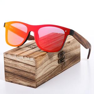 BARCUR 2018 Zebra Marca De Madeira Estilo Vintage Óculos De Sol Dos Homens Lente Plana Sem Aro Quadrado Quadro Mulheres Óculos De Sol Oculos Gafas