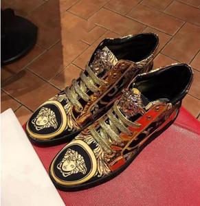 Модная обувь в зернах, золотыми нитями вышивка, мокасины мужские, удобные , ленивый обувь, изысканные краски кожаный вождения обуви d2h58.