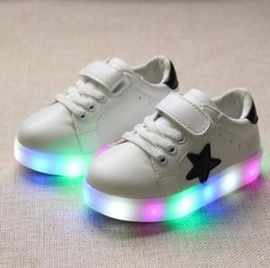 Davidyue marchio LED stella scarpe per bambini Ragazzi Ragazze Bambini Led bambini Light Up scarpe sportive scarpe da ginnastica traspirante luminoso scarpe da ginnastica