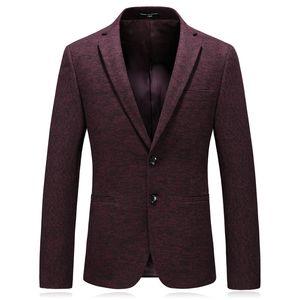 Red Gentleman High-Grade Formal Fashion Blazer Winter Autumn Groomsman Smart Casual Coat Blue Brand Classic Leisure Suits New