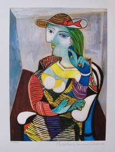 """""""Pablo Picasso MARIE"""" dipinto a mano della decorazione della parete olio di arte Christmas collection Opzioni libera dimensioni freight.Multi / telaio, Rr194 #"""