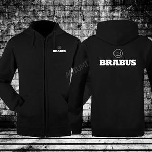 Moda outono inverno manga longa homens B brabus camisola impressão Hoodies casacos com capuz treino com zíper jaquetas