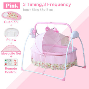 Electric Baby Cradle   Infant Rocker, 3 Timing,3 Frequency