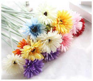 Ipek Transvaal Papatya 23 Renkler 55 cm Barberton Papatya Yapay Çiçek Güneş Çiçek Düğün Dekorasyon Ev Dekorasyon Için