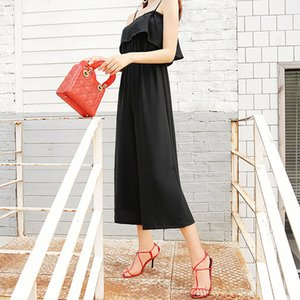 2018 Summer New Pattern Korean Temperament Fashion  Edge Leisure Pants Casual Jumpsuit Women
