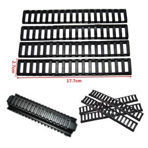 20 mm Cubiertas de riel de goma Handguard Ladder 18 Ranuras Cubiertas de riel de perfil bajo 4pcs / pack Black For Handguard