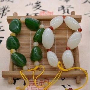 Jade exterior mão cadeia material mongol pode ser ajustado para o exterior do mengshan.
