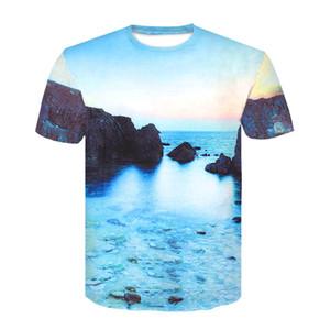 print landscape T shirts 3D Men T-shirts Novelty flower Tees Male Short Sleeve Summer Round Neck Tshirts dropshiping
