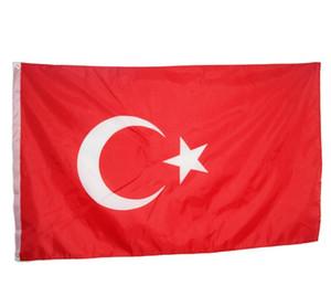 90 x 150 cm Bandeira Turquia Grande Bandeira-3FT X 5FT Pendurado Bandeiras Nacionais Turquia Turco Casa Jarda Outdood Decoração