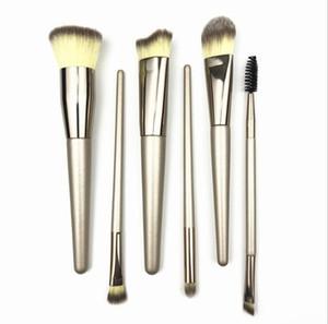 Makeup brushes set professional 6pcs Make Up Brush Eye Shadow Blending Eyeliner Eyelash Eyebrow Brush Eye Shadow Brush Set Cosmetic Tools M