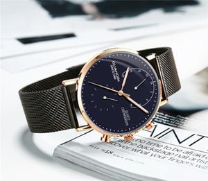 GUANQIN 2018 nuovi orologi di lusso al quarzo uomini orologio in acciaio moda orologio maschile orologi impermeabili con calendario completo orologio da polso S924
