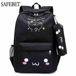 SAFEBET جديد نمط طباعة حقيبة الظهر متعددة الوظائف USB سعة كبيرة شحن ماء مدرسة حقيبة السفر امرأة