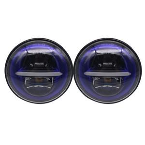 2pcs éclaireur indien 7 pouces DOT E9 LED phare moto phare pour jeep Sportster 883 1200, fer 883, Dyna