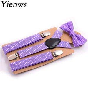 Yienws Kids Suspenders Baby Pajarita Tirantes Niños Niñas Elegante Suspensorio Pajaritas Polka Dot Tirantes para Niños YiA028