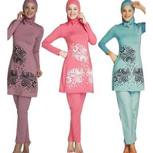 Muslim Modest Swimwear islamischen Badeanzug für Frauen Full Coverage Hijab Bademode Schwimmen Bademode Burkinis