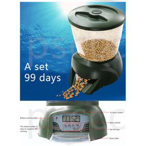 Alimentador de peixe Fish Food Dispenser Digital Aquarium Timer Feeder com LCD Venda Quente Automático Pond Fish Food Dispenser