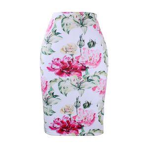 Mode 3D Flower imprimer filles jupes crayon Western femmes midi saias femme faldas slim booms M-XXL bas prix vente