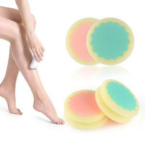 مؤلم ناعم الساق الساق الذراع الوجه إزالة الشعر مزيل مقشر أدوات إزالة الشعر الإسفنج الجلد الجمال