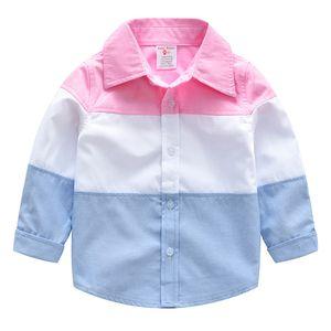 INS butik çocuk giyim ilkbahar yaz erkek pamuk hırka yakışıklı uzun kollu hit renk gömlek çocuk ekose gömlek H034