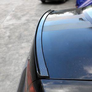 Trunk Sticker Universal 5ft Rubber Carbon Trim Spoiler Rear Xrshn Bright Car-styling Wing Lip Soft Roof Self Adhesive Car Auto Fiber Hrarb