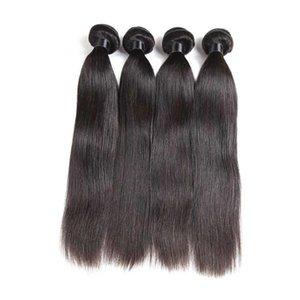 Malaisienne brésilienne péruvienne Virgin cheveux humains Tissages 3 faisceaux Droit Naturel Style Noir Remy Hair Extensions non transformés Bundles