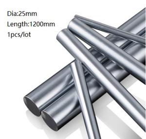 1 teile / los 25x1200mm Dia 25mm linearwelle 1200mm lange gehärtete wellenlager verchromt stahlstange bar für 3d drucker teile cnc router