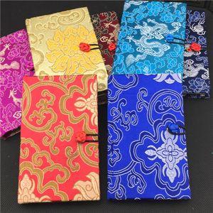 Lujo Hardcover Chinese Notebook Vintage Gift Color Adult Diary En blanco brocado de seda Craft Notepad Notebook 1 unids