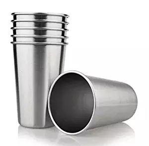 4 adet-Paket 16 oz Çocuklar için Paslanmaz Çelik Içme Bardaklar Gıda Sınıfı su gözlükleri 16 oz Pint Çok amaçlı bardak 500 ml süt bira bardağı