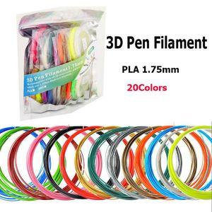 10M / اللون 3D القلم خيوط ABS / PLA 1.75mm 20 الألوان 30 الألوان 3D طابعة الشعيرة المواد للطباعة 3D القلم دي إتش إل الحرة