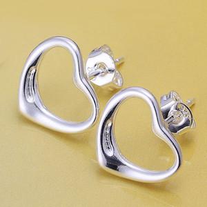 Fine 925 Sterling Silver Earring, 2018 New Style 925 Silverd moda corazón oído butyl Para mujeres Fashion Jewelry 2018 Hot Sale Classic SE099